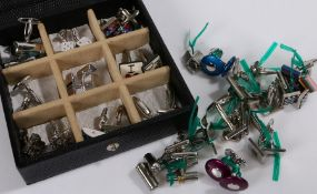 Collection of cufflinks, various styles (qty)