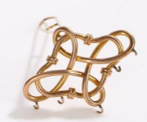 9 carat gold clasp, with interwoven decoration, 12.1g