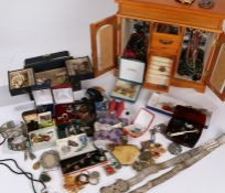 Costume jewellery, to include silver and other necklaces, brooches, rings, earrings etc. (qty)