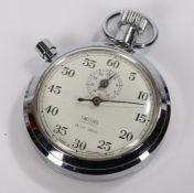 Smiths 1/5th secs stopwatch, manual wound, the case 51mm diameter
