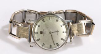 Tissot Seastar gentlemans wristwatch, the signed silver dial with baton markers, 34mm diameter
