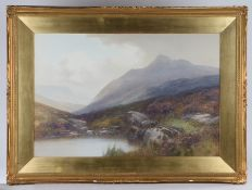 Frederick John Widgery (1861-1942), mountainous landscape scene with pond to the foreground,
