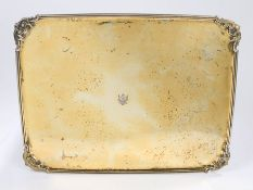 House of Romanov Russian silver gilt tray, 18th Century, assay mark for St. Petersburg, makers