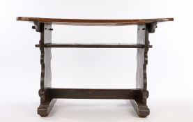 Early 17th Century German Sleigh Foot Table, circa 1620 – 1640. Having a removable shaped three