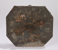Early 20th Century folk art spinning game board, with points from 1-60, 32.5cm x 29cm