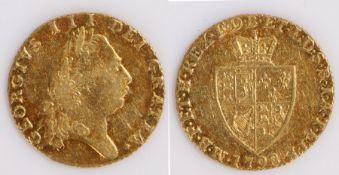 George III Half Guinea, 1798, Shield back