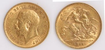 George V Half Sovereign, 1911, St George and the Dragon
