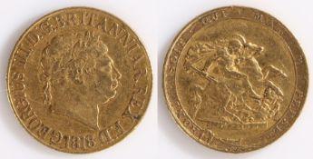 George III Sovereign, 1818