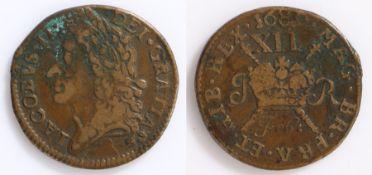 Ireland James II 'Gun money' 1689,