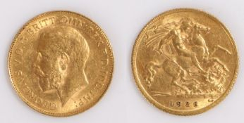 George V South African Half Sovereign, 1926, St George and the Dragon