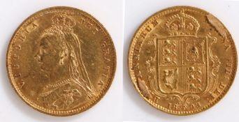 Victorian Half Sovereign, 1898, Shield reverse