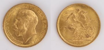 George V Sovereign, South Africa, 1925, St George and the Dragon