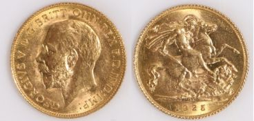 George V South African Half Sovereign, 1925, St George and the Dragon