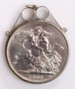 Victoria Crown, 1890, St George and the Dragon, mounted