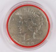 USA One Dollar, 1922, capsulated