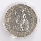 British/Hong Kong Trade Dollar, 1903, Standing figure of Britannia holding trident and shield with
