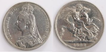 Victorian Crown, 1892, St George and the Dragon