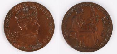 Edward VIII 1937 bronze coronation medal