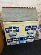DOLLS HOUSE TO INCLUDE FURNITURE, PUPPET ON A STRING AND PRINT