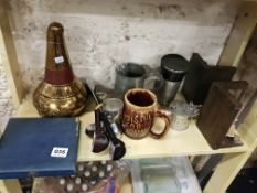 LARGE SHELF LOT TO INCLUDE SILVER