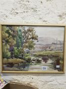 WATERCLOUR LANDSCAPE SIGNED DUNNE