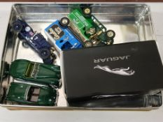 TIN OF COLLECTABLE TOY CARS