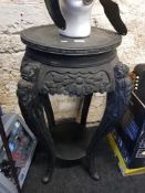 ANTIQUE CARVED PLANT STAND