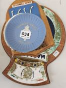 2 NAVAL PLAQUES AND 2 PLATES