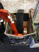BOX LOT OF MUSICAL INSTRUMENTS