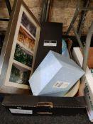 BOX LOT OF ITEMS TO INC BAKING BOWL & ROYAL DOULTON CRYSTAL DECANTER