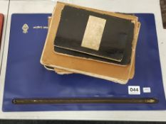 2 OLD BOOKS, QUANTITY OF CUTTINGS OF OBITUARY AND MARRIAGES DATING BACK TO LATE 1800'S AND