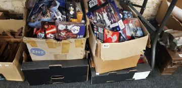4 LARGE BOXES OF STAR WARS ITEMS