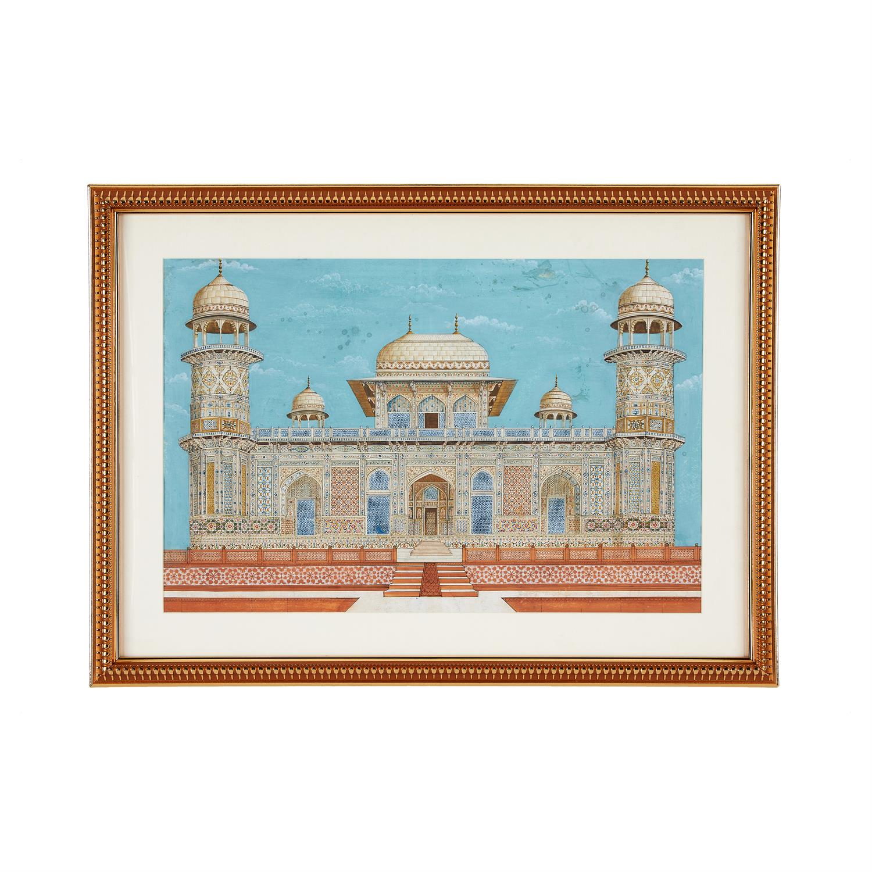 Lot 126 - Etmad Dowla Tomb, illustration on paper [India (probably Uttar Pradesh), late 19th century]