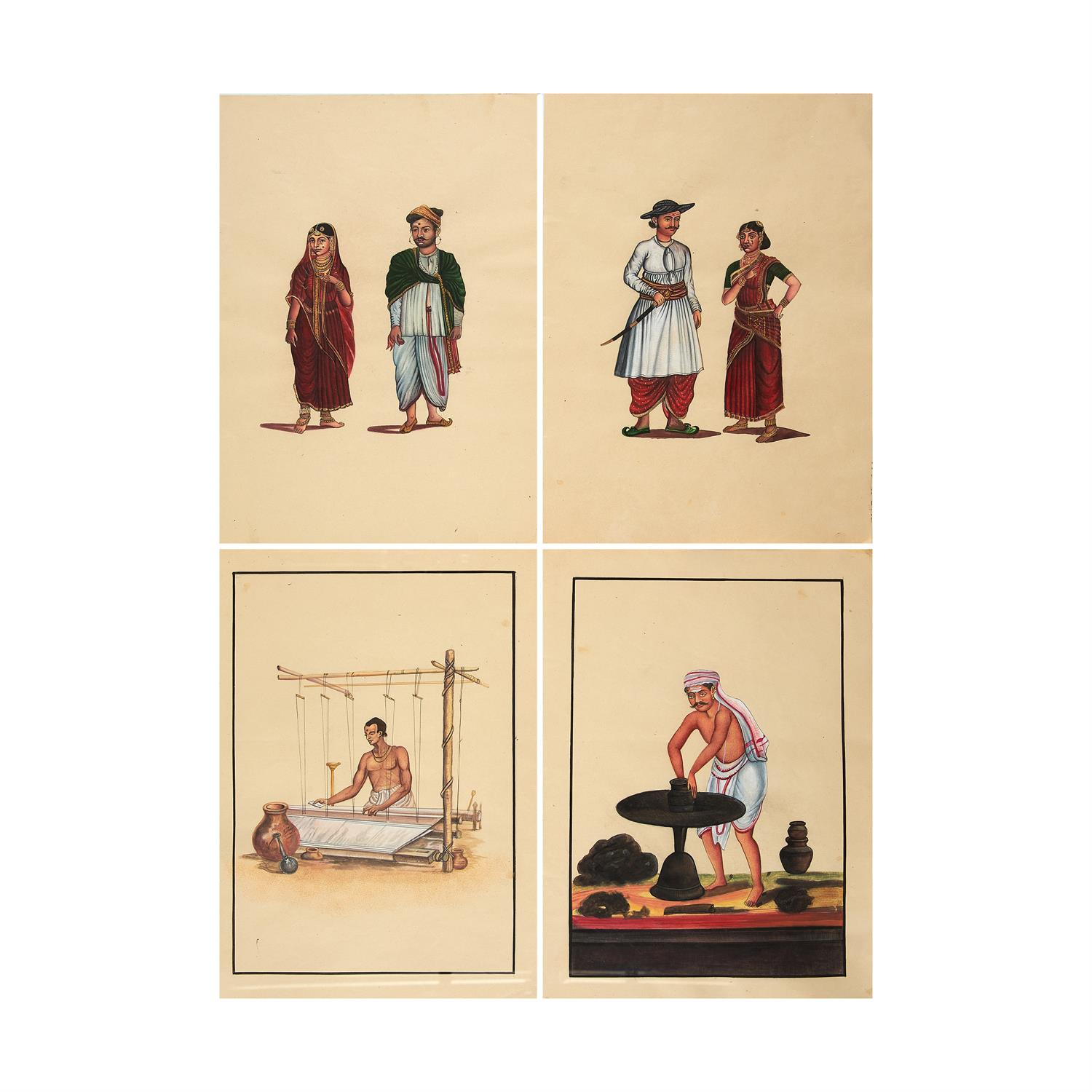 Lot 130 - Group of 12 Company School illustrations, on paper [India, early twentieth century]