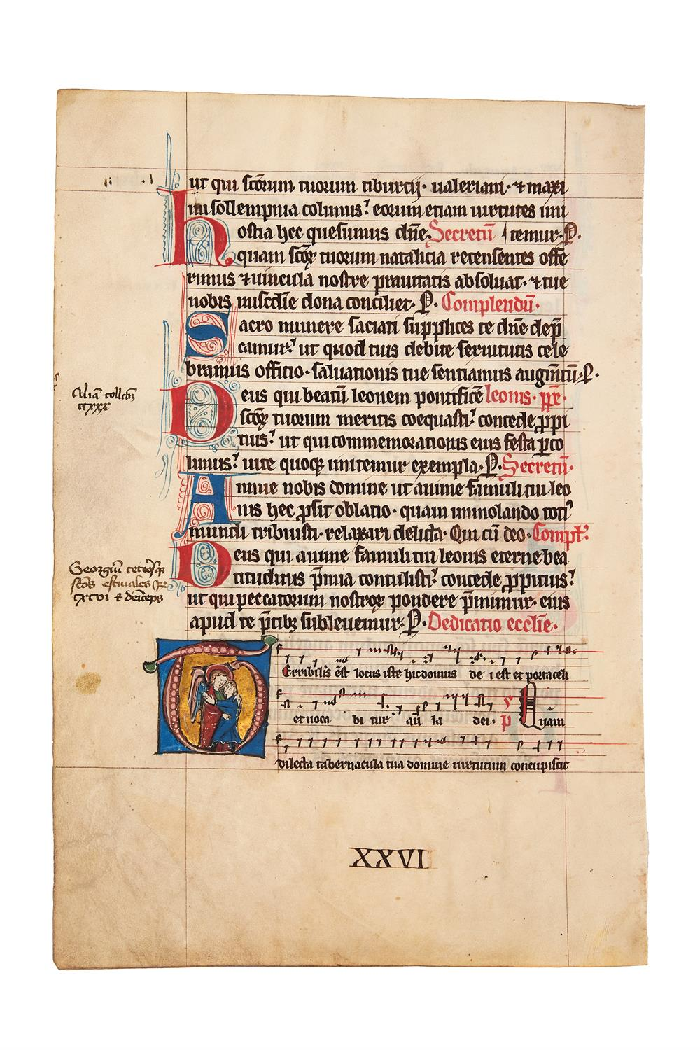 Leaf from a Missal, in Latin, manuscript on parchment [Low Countries, 2nd...