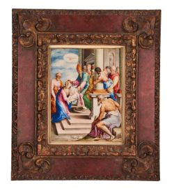 Presentation in the Temple, fine Renaissance miniature on parchment [Rome, late 16th century]
