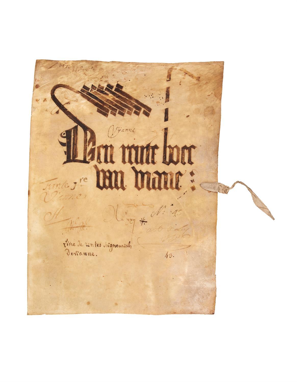 Fragment of a 'Rente Boec' for Viane, manuscript on paper [East Flanders...