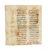 Ɵ Missal, in Latin, manuscript on parchment [Southern Italy, 14th century]