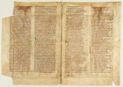 Ɵ Isidore of Seville, Etymologiarum, in Latin, manuscript on parchment [France, 12th century]
