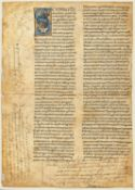 Ɵ Sermons on the Annunciation of the Virgin, manuscript in Latin on parchment [Italy, 12th century]