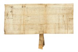 James VI of Scotland, confirmation charter for Kilwinning, manuscript on parchment [Scotland, 1585]