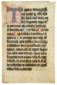 Ɵ Missal, in Latin, manuscript on parchment [Germany, late fifteenth or early sixteenth century]