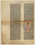 Ɵ Vitae sanctorum, in Latin, manuscript on parchment [Germany, Rhineland, c.1300]