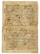 Ɵ Lectionary in Latin, manuscript on parchment [southern Germany, 11th century (probably 1st half)]