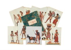 Costume and trade illustrations, company school [probably Tamil Nadu, early nineteenth century]