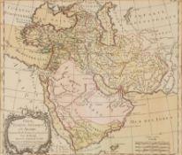 "Ɵ Brion. ""Perse, Turquie Asiatique et Arabie"", engraved map on paper [Paris, 1786]"