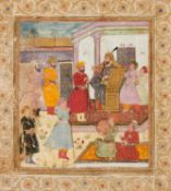A Ruler with his attendants, on paper [Mughal India, second half of the eighteenth century]