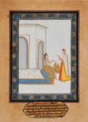 Radha and her companion, Pahari school [India (Himchal Pradesh), early nineteenth century]