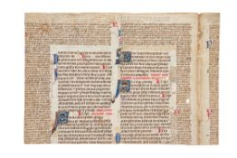 Cutting from a copy of the Corpus Juris Civilis, in Latin, illuminated manuscript on parchment