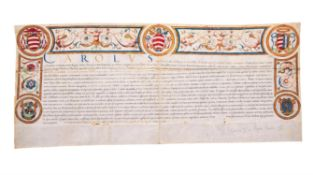 Cardinal Carlo Carafa, Letters Patent granting the office of count of the Sacred Palace